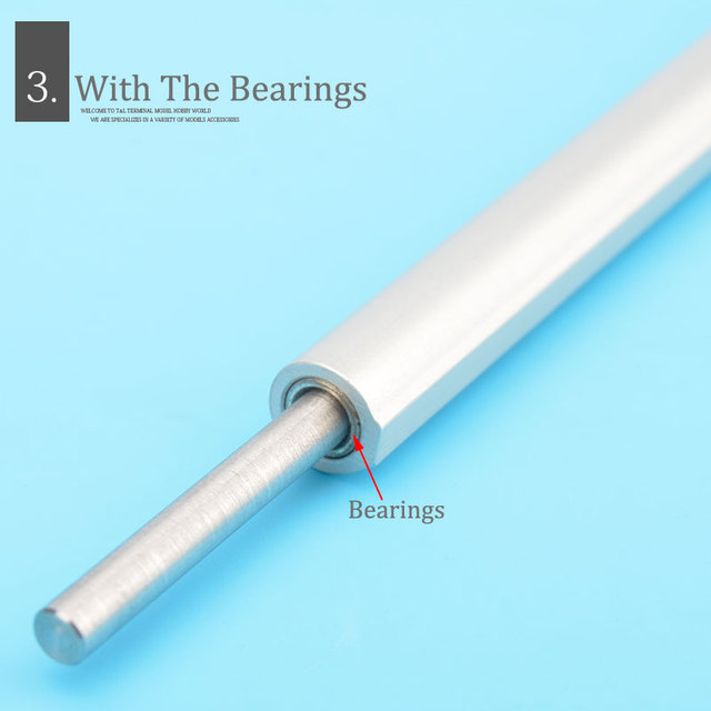 4mm Boat Shaft+Aluminum shaft sleeve+Prop Nut +Drive Dog For RC Eletric Boat