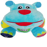 Israeli Hebrew Speaking Singing Toy Hippo Stuffed Behemoth Musical Doll River Horse for Jews Baby Plush Hippopotamus Funny