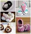 Zapatos del ganchillo del bebé, bebé recién nacido zapatillas, zapatos de bebé ocasionales tamaño 0 - 12 M
