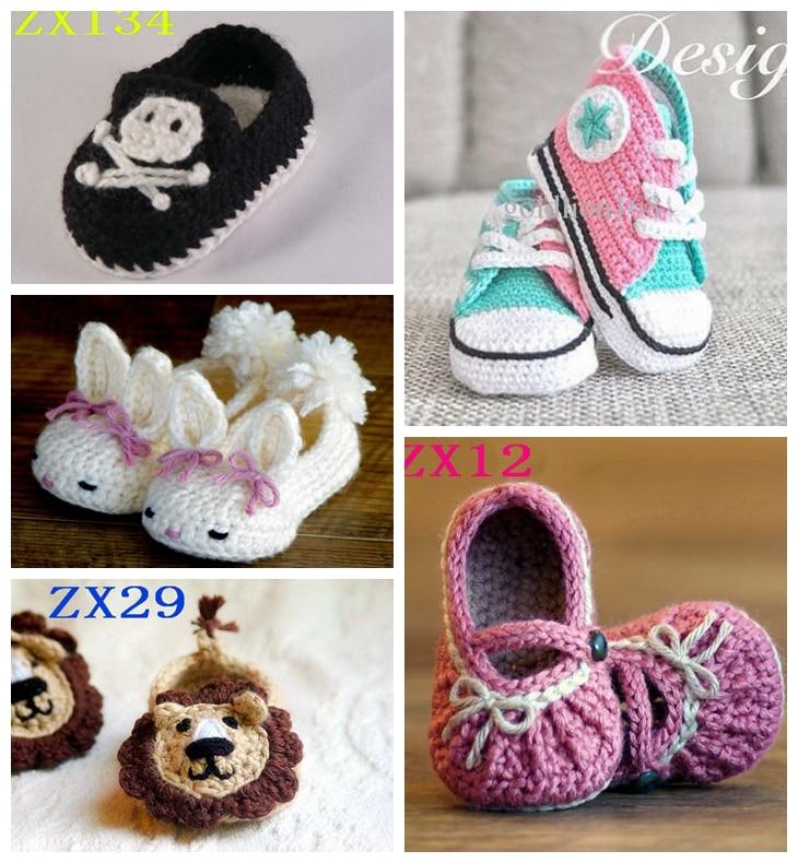 Φ_ΦZapatos del ganchillo del bebé, recién nacido del bebé, zapatos ...