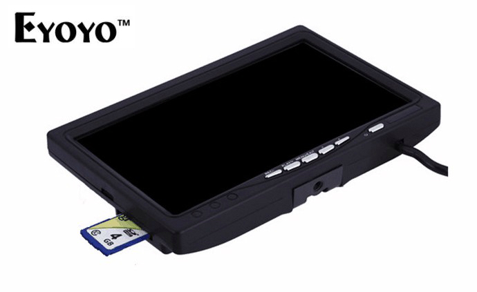 Free Shipping ! Single 7 LCD Monitor with Recording Function DVR for Eyoyo Fish Finder Fishing Camera sky 708 40ch 7 monitor hdmi input and diversity rx dvr ppm function