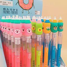 36pcs/1 Lot Kawaii Bottle Press Mechanical Pencils School Office Supply Student Stationery Kids Gift Automatic Pencil