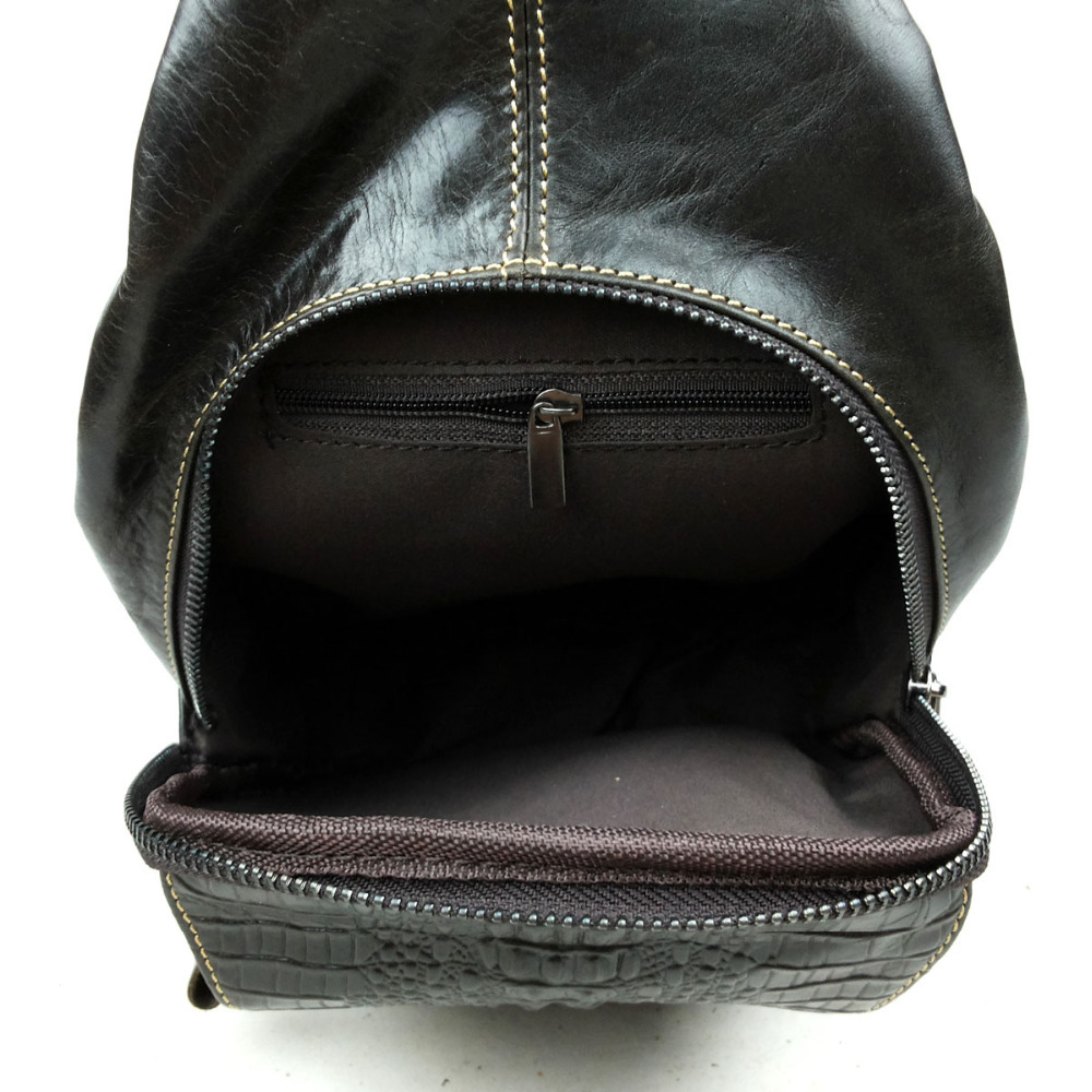 Aliexpress.com : Buy Fashion men genuine leather chest bag trend ...
