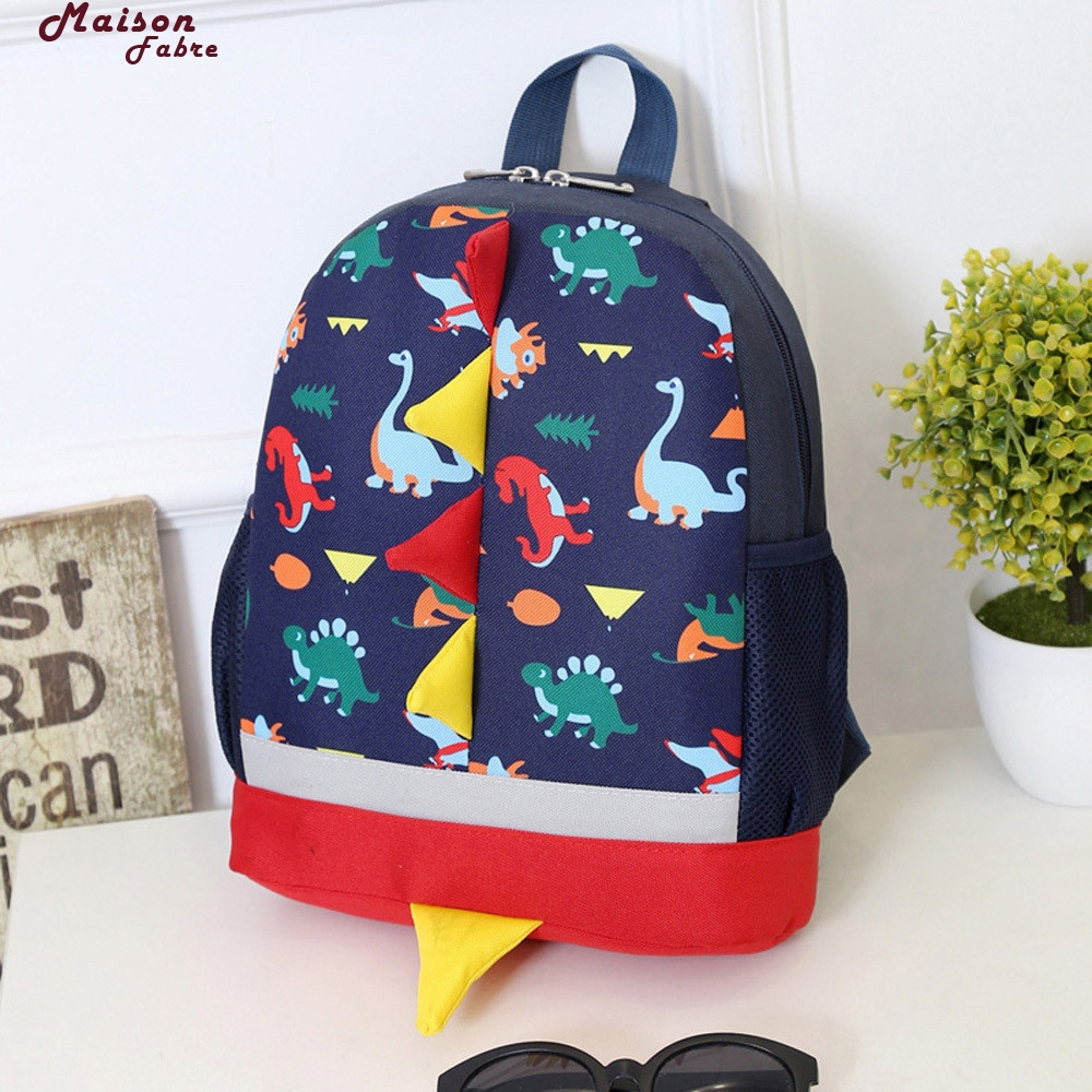 Maison Fabre Baby Boys Girls Kids Dinosaur Pattern Animals Backpack Toddler School Bag boys girls backpack top quality baby shoulder bag unisex kids dinosaur pattern animals toddler school bag gift mochila 17aug8