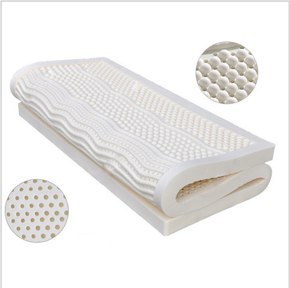 10cm Thickness Queen Size Ventilated Seven Zone Mold 100 Natural Latex Mattress Topper With White Inner Cover Midium Soft In Mattresses From Furniture On