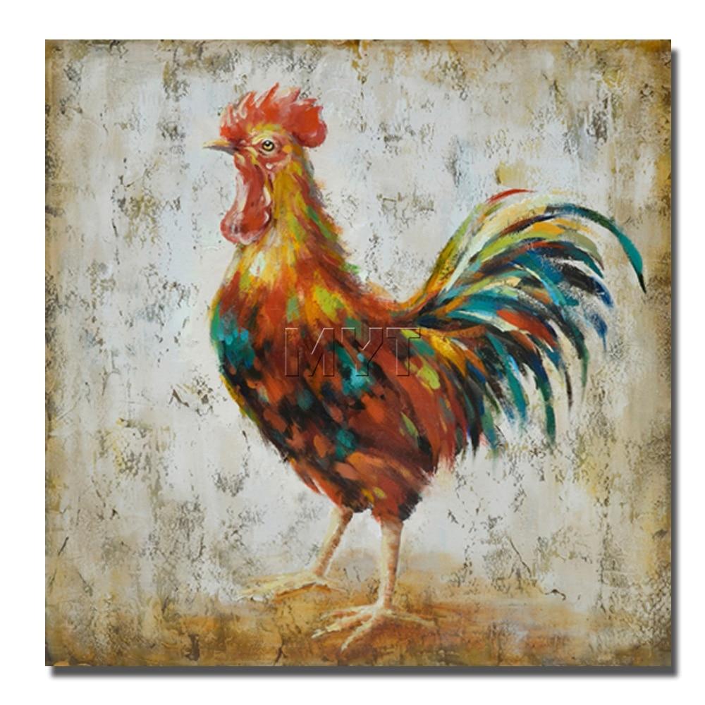Kühle Hahn Schön Tier Wand Bilder Handzeichnung keine gerahmte ...