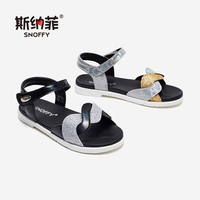 Kids Sandals Girls Princess Summer Beach Shoes Sandale Filles Bright Girls Shoes Patchwork Design Children Leather Sandals TX487