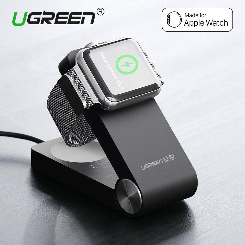 Ugreen Plegable Cargador Inalámbrico para Apple Reloj 3/2 Imf Certificada Cargador de Muelle de carga Del Soporte Con 1.2 M Cable de 38mm y 42mm