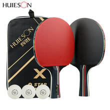 Table Tennis Racket Ping Pong Racket Pad Blade Bat With Pingpong  Bag Kalemlik Sticky Power Pimples-In Rubber Good Control цена и фото