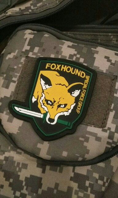 Metal Gear Solid Foxhound Emblem Patch Fox Hound Uniform Patch Badge Militaria Fox Hound Special Force Group Patches