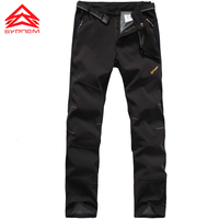 Men Women Hiking Pants Outdoor Pant Softshell Fleece Warming Thermal Winter Trousers Climbing Waterproof Pant Windproof