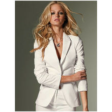 White Women Tuxedos Shawl Lapel Suits For Women One Button Business Women Suits custom made white suits tpb