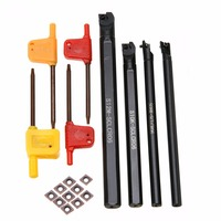 10pcs High Quality Inserts 4pcs SCLCR06 Tool Holder Boring Bar Wrench For Lathe Turning Tools