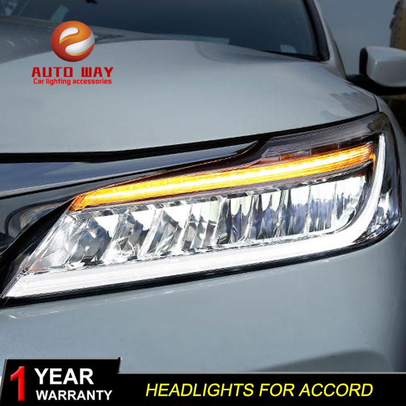accord honda headlight headlights led drl head styling lamp double case aliexpress assembly beam light