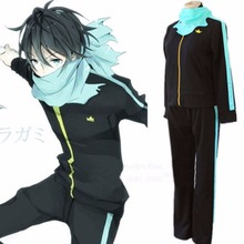 Anime Noragami Stray God Yato Cosplay Costume Sports Outfit Pants Scarf Whole Set