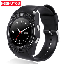 KESHUYOU V8 Android Smart Watch Men Sport  relogio inteligente Smartwatch Android Wear Smart Clock phone Camera With Sim TF card