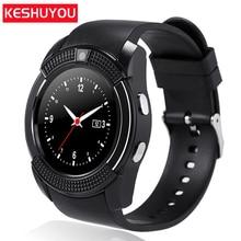 KESHUYOU V8 Android Smart Watch Men Sport  relogio inteligente Smartwatch Wear Clock phone Camera With Sim TF card