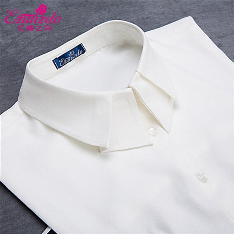 YIZUNZHIDUO High Quality Tie Women Shirts Popular Black White All-match Sweater Beaded Decoration Collar Fashion False Collars