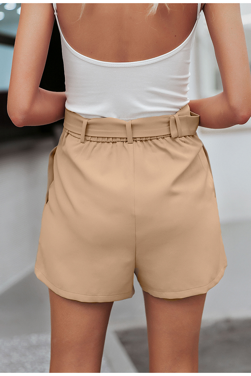 Simplee Casual sash belt women shorts Elastic waist blazer short pants Streetwear solid soft office ladies bottom shorts 2019