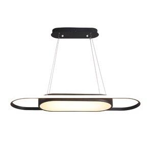 Image 5 - אורך 90cm תליית אורות לבן/שחור מודרני led אורות תליון עבור אוכל חדר Kitchent חדר בר תליון מנורה אור גופי