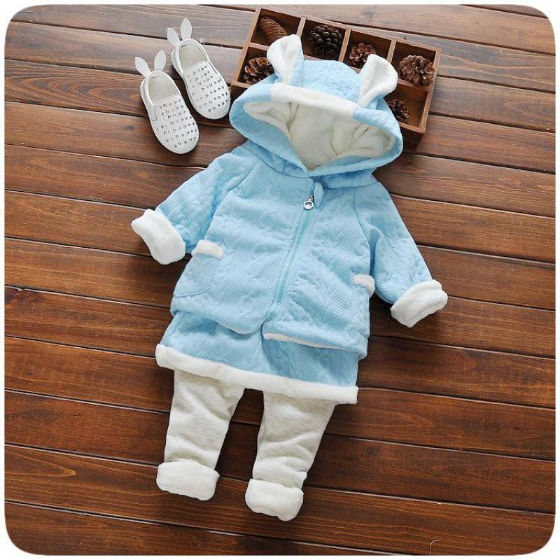 2017 Winter New Cute Baby Girl Clothes Sets For Children High Qulity Top+fake Two Pieces Of Dress Pants 2pcs Suit Toddler Girls brand cute toddler girl clothes rainbow color sling 2 pcs baby girl clothing sets for 6m 3y free shipping