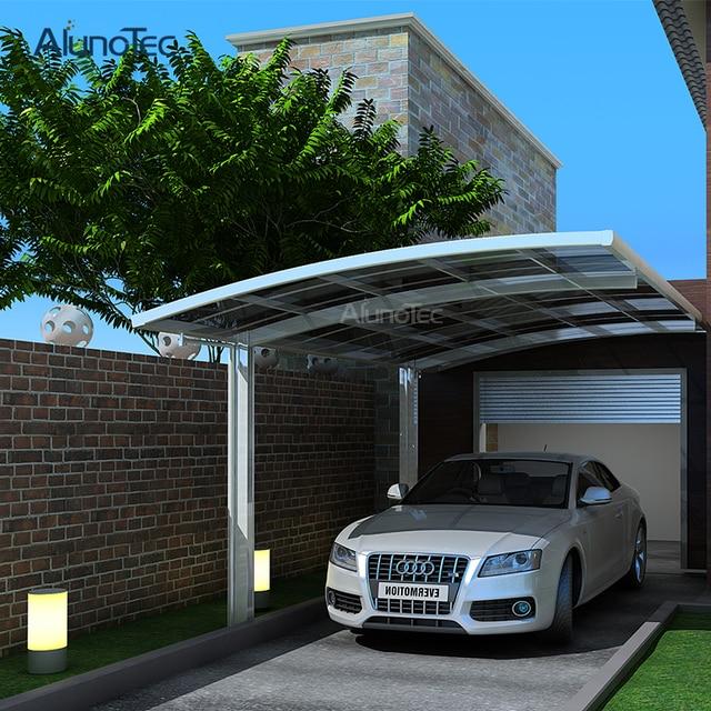 polycarbonated einzigen carport auto shelter car markise 55 mt lnge x 3 mt breite
