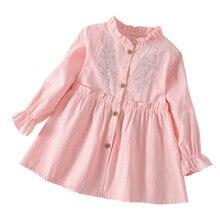 Kids Dresses for Girls 2019 Fall Autumn Cute Lovely Coton Long Sleeve Toddler Girl Flower