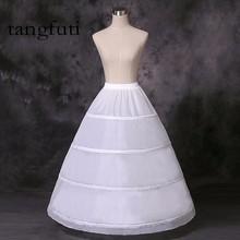 Hosszú esküvői esküvői esküvői ruhák esküvői ruhájához Hoop Ball Gown Crinoline pulóver YLTZ20