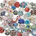 50 unids/lote caliente por mayor alta calidad Mix muchos estilos 18 - 20 mm Metal encanto de botón a presión estilos botón Ginger Snaps joyería