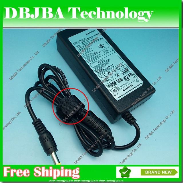 Free Shipping 5pcs 19V 3.16A 5.5*3.0 AC Power Adapter For samsung r560 r528 r530 P460 Q430 P530 R430 R480 R440 R510 R522 R540