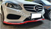Universal Red Rubber Front Lip Spoiler Side Skirt Body Kit 2.16inch*98.5inch
