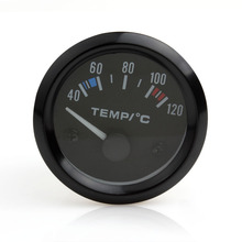Newest 2inch 12V Universal Car Pointer Water Temperature Temp Gauge Black Shell 40 - 120 White LED