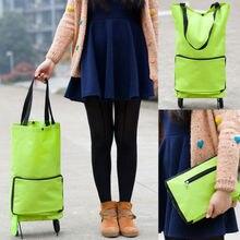Новинка, горячая Распродажа, складная сумка на колесиках, переносная корзина для покупок, складной багаж для дома и путешествий, зеленый цвет