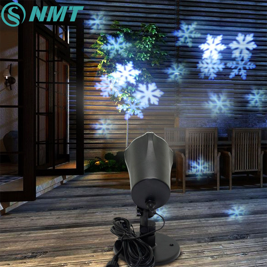 4W Christmas Lights Outdoor LED Snowflake Projector Light Snowflake Lawn Lamps Light Waterproof Snow Lasers Christmas Lights plus size christmas snowflake elk print hoodie