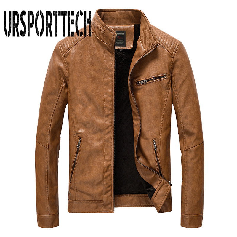 New Brand Men Pu Faux Leather Jackets Autumn Winter Mens Motorcycle Leather Jackets Men Outwear Male Coats Big Size M 5XL-in Faux Leather Coats from Men's Clothing    1