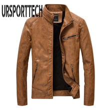 New Brand Men Pu Faux Leather Jackets Autumn Winter Mens Motorcycle Outwear Male Coats Big Size M-5XL