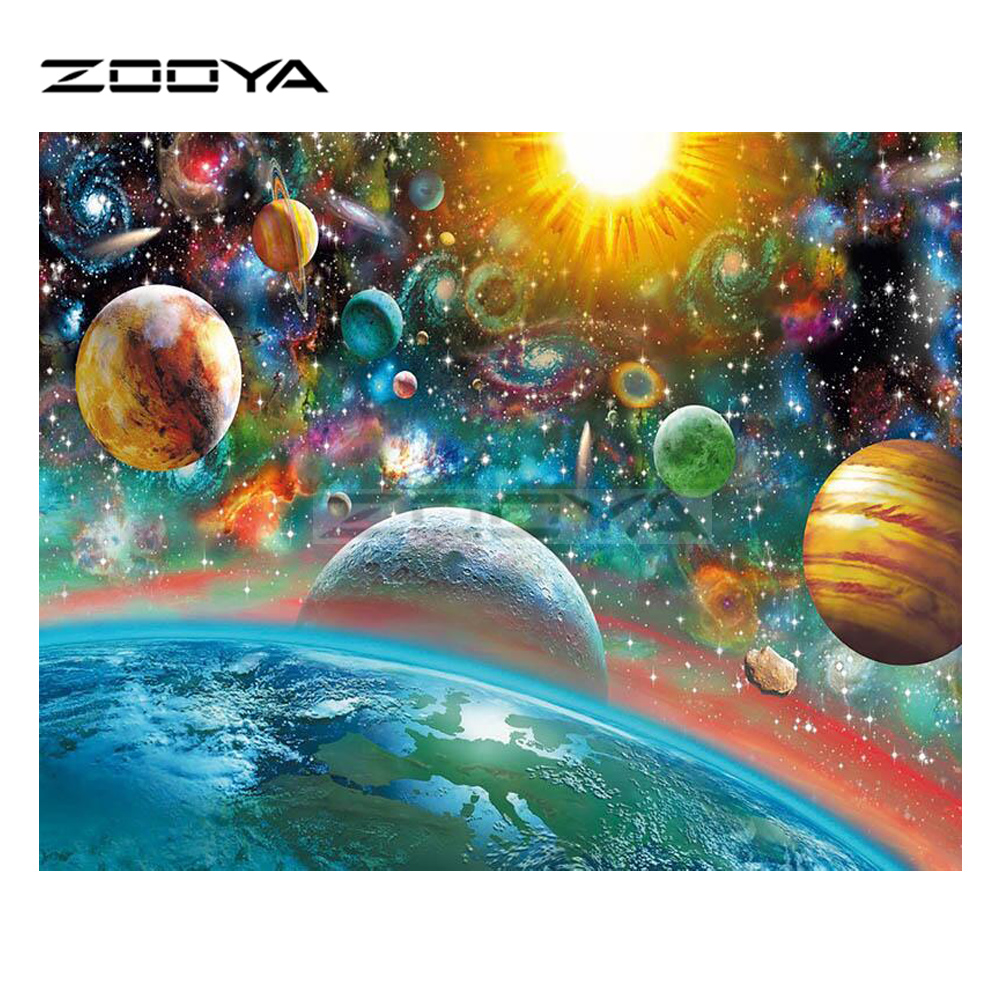 Buy zooya diy diamond embroidery outer for Outer space landscape