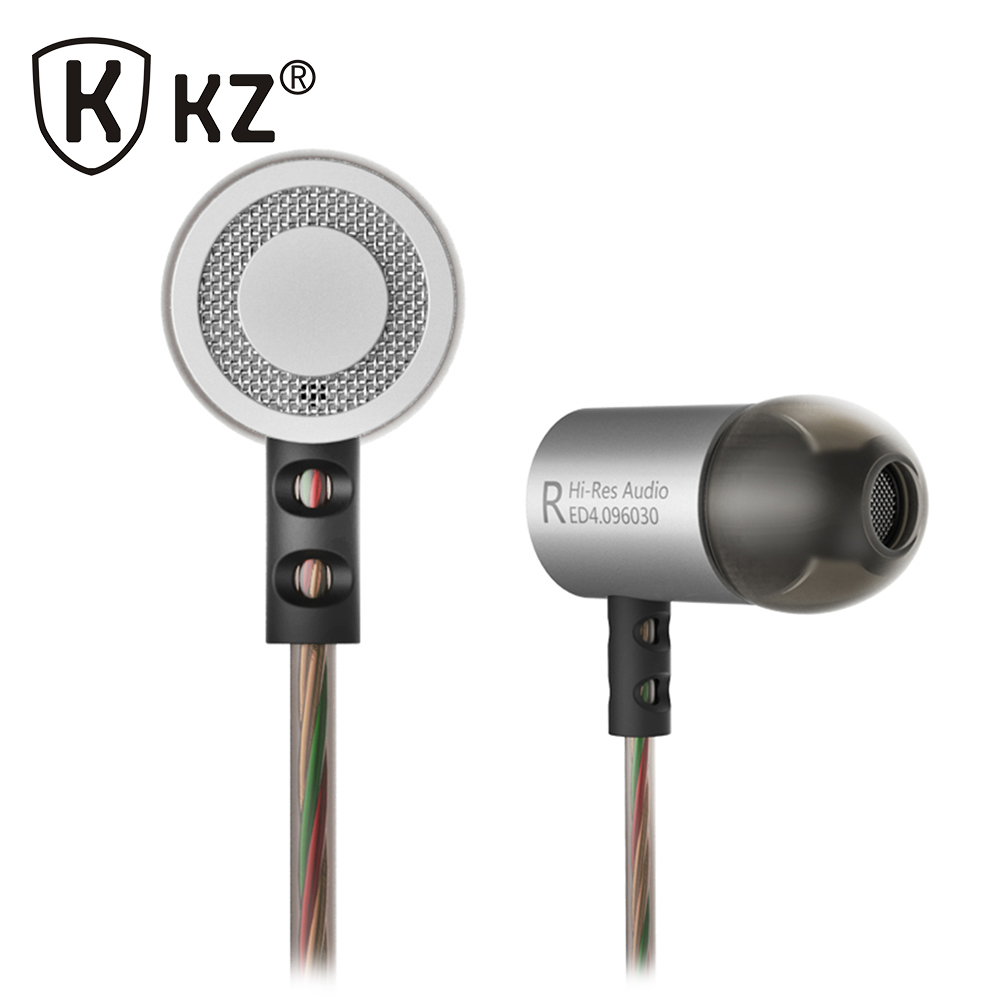 KZ ED4 Latest Design 100% Original fone de ouvido auriculares In Ear Earphone Metal DIY 9.6mm Dynamic Unit HIFI Headset With Mic kz headset storage box suitable for original headphones as gift to the customer