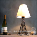 hot sale handmade iron fabric red/white/black eiffel tower e27 table lamp novel decoration wedding velantine's day present 1250