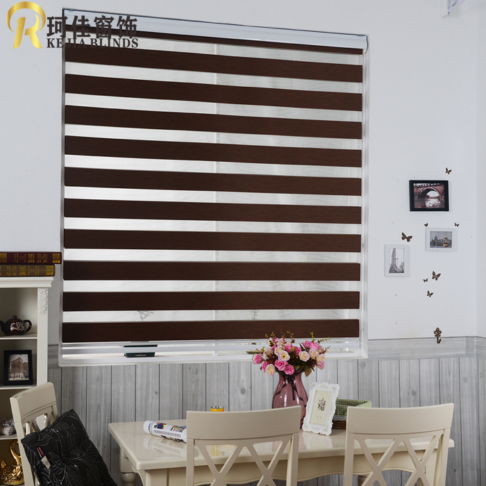 Free Shipping Custom Made 100 Polyester Blackout Double Roller Blinds Zebra Blinds Window Shade Curtains