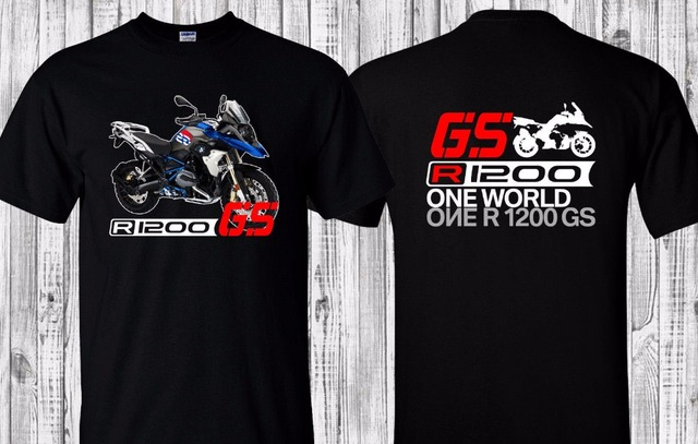 88b8996d3a8d 100% Cotton Short Sleeve Design T-Shirt R 1200Gs F800GS Lc Rally Brand New  High Quality Motorcycle Adventure Tee Shirts