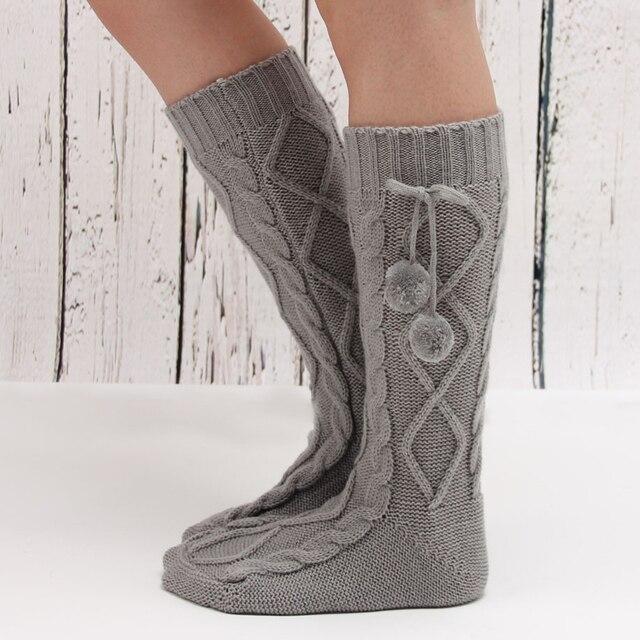 Calidad medio largo Calentadores para piernas para Botas primavera ...