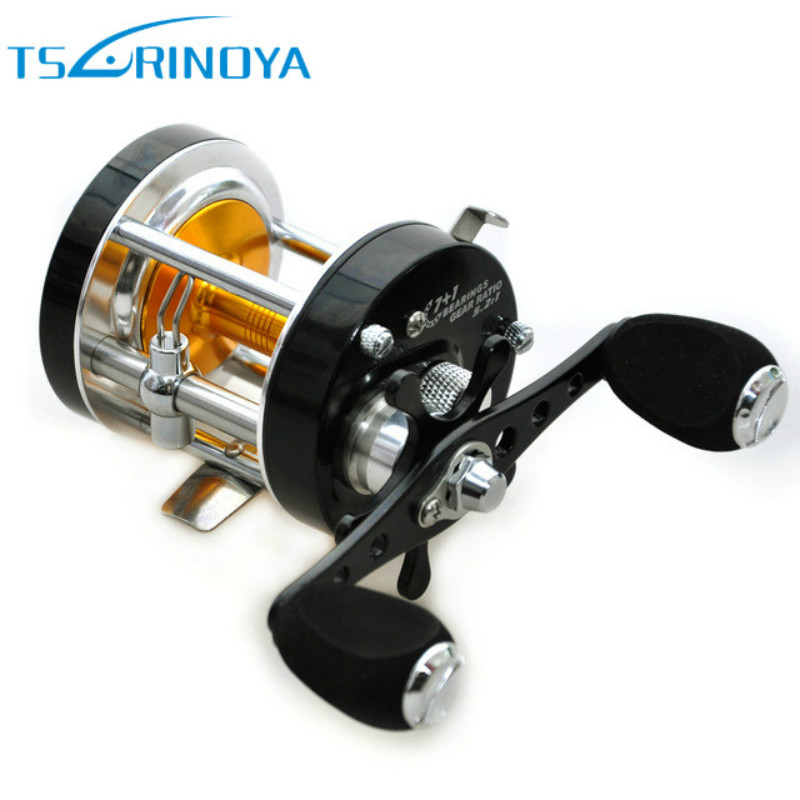 Tsurinoya Full Metal Fishing Drum Reels Bait Casting 7+1BB 5.2:1 Left Right Hand Round Jigging Reel Saltwater Sea Coil metal round jigging reel 6 1 bearing saltwater trolling drum reels right hand fishing sea coil baitcasting reel