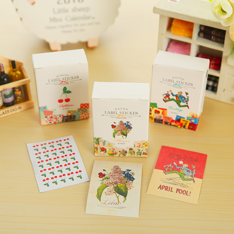 50 Pcs/box Beautiful Childhood Mini Paper Sticker Decoration DIY Ablum Diary Scrapbooking Label Sticker Kawaii Stationery