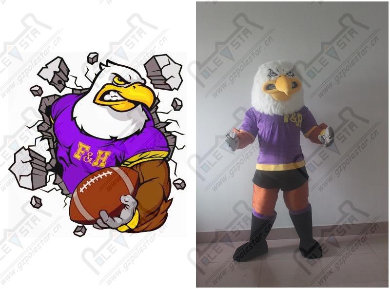 Violet muscle mascotte d'aigle costumes power bird costumes de mascotte Vautour condor - 5