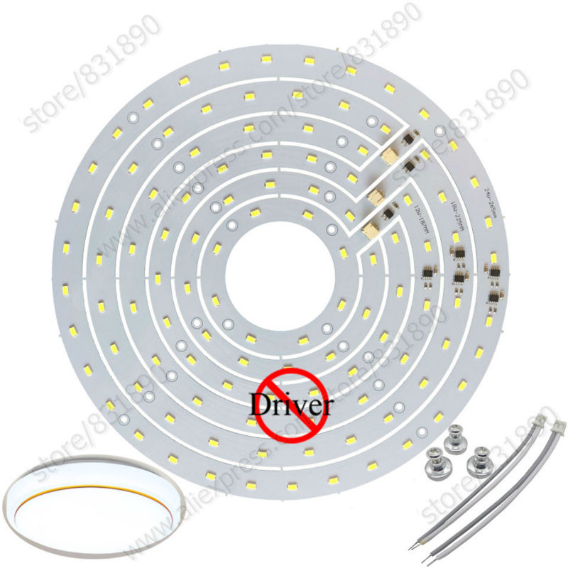 2pc LED Module AC 220V led pcb 12W 18W 24W ceiling lamp PCB SMD5730 Epistar Chip+integrated IC Driver replace ceiling tube light 50w led pcb with smd5730 integrated ic driver aluminum plate free shipping