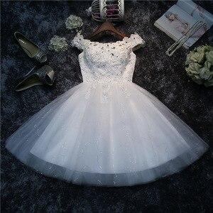 Image 5 - LYG A5 # vestidos de dama de honra broca rendas acima vermelho e branco curto festa de casamento vestido de baile de formatura atacado noiva casar meninas graduação