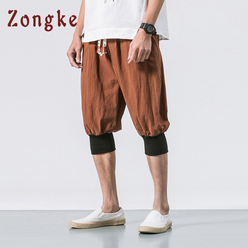 Zongke Chinese Style Summer Linen Cotton Shorts Men Streetwear Mens Shorts Man 5xl Men Shorts Cotton Clothing 2019 Spring New Good For Energy And The Spleen Casual Shorts