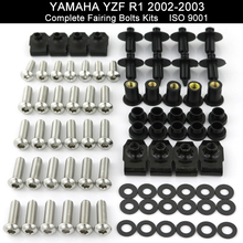 For Yamaha YZF-R1 YZFR1 2002 2003 Motorcycle Full Fairing Bolt Kit Bodywork Cowling Screws Fairing Screw Nuts Stainless Steel