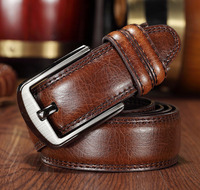 2015 New Cowhide Genuine Leather Belts For Men Brand Strap Male Buckle Fancy Vintage Jeans Cowboy